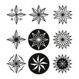 Star Tattoo Set. Beautiful pattern stars Royalty Free Stock Images