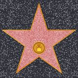 Star Television receiver (Hollywood Walk of Fame) stock illustration