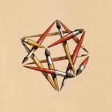 Star tetrahedron of the brushes Royalty Free Stock Images
