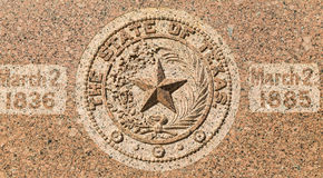 The Star of Texas in Austin Stock Image
