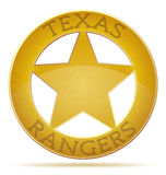 Star texas ranger  illustration Stock Image