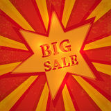 Star with text big sale Royalty Free Stock Photos