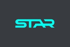 Star text Logo design  template. Modern hitech lettering. Stock Image