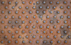 Star textured rusty background Stock Images