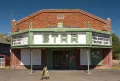 Star Theater, Bly. Photo of the old Star Theater, Bly , Oregon, USA stock images
