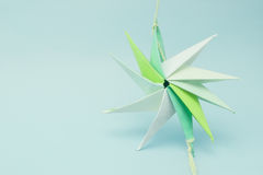 Star tied at ends by thread Royalty Free Stock Photos