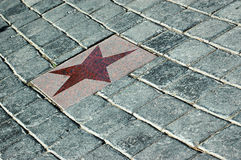 The star on tiles Royalty Free Stock Photography