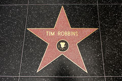 The star of Tim Robbins Royalty Free Stock Photo