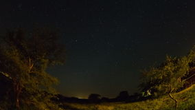 Star Time Lapse Kruger Park Fisheye stock footage