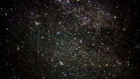 Star Time Lapse, Milky Way Galaxy in the Night Sky stock footage