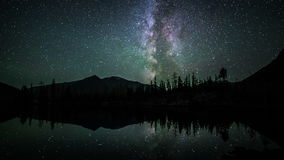 Star Time Lapse of milky way at night stock footage