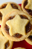 Star Topped Mince Pies on Plate Stock Photography