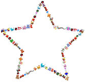 Star toys border Stock Images