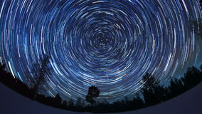 Star tracks. Fisheye. Time Lapse stock video
