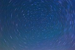 Star tracks on a night sky Royalty Free Stock Photography