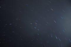 Star tracks sky space Stock Image
