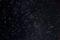Star tracks sky space Stock Photography