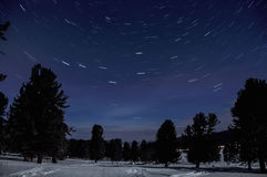 Star tracks space night sky Stock Images