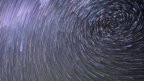 Star tracks. Spiral. Time Lapse stock footage