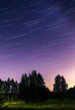 Star tracks tonight after summer sunset Stock Image