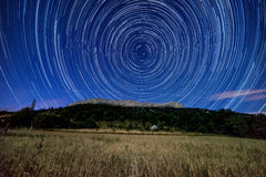 Star trail above Ceuse Stock Images