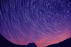 Star trail in Abruzzo Royalty Free Stock Image