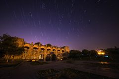 Star Trail at The Central Stadium Stock Photography