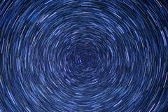 Star trail circle-space-night-blue