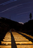 Star Trail and Flume Royalty Free Stock Photo