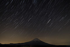 Star trail with Fuji Royalty Free Stock Photo