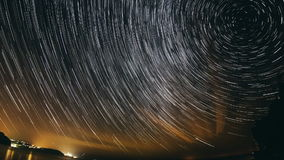 Star Trail stock video footage