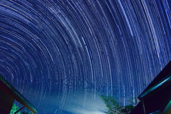 Star trail royalty free stock photography