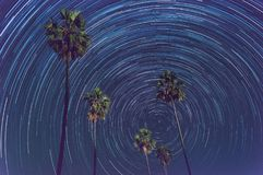 Star trail. Long exposure photography royalty free stock photo