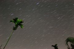 Star trail. In the night sky royalty free stock images