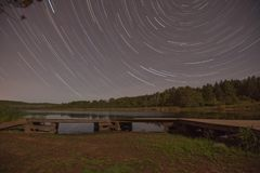 Hartley pond star trail Stock Images