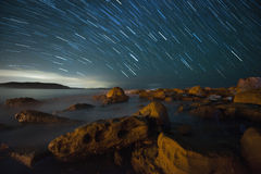 Star trail. royalty free stock photography