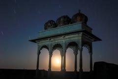 Star trail ruin palace Royalty Free Stock Photo