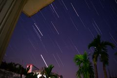 STAR. TRAIL. Taken from gazipur, Bangladesh Royalty Free Stock Photos
