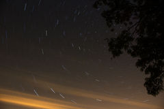 Star trail Stock Image