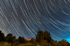 Star trails Stock Photography