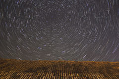 Star trails around North Star Royalty Free Stock Photo