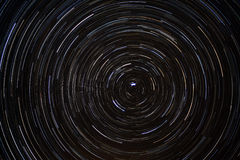Star Trails around Polaris (North Star) Royalty Free Stock Image