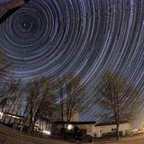 Star trails Stock Images