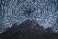 Star trails. Royalty Free Stock Photography