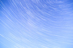 Star Trails with Blue Sky Royalty Free Stock Image