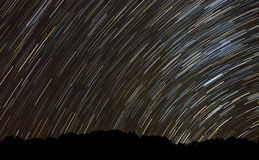 Star trails at Borneo, Sabah, Malaysia Royalty Free Stock Photo