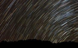 Star trails at Borneo, Sabah, Malaysia Royalty Free Stock Photo