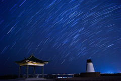 Star Trails in Clear Water Bay Country Park. Hong kong royalty free stock images