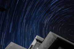 Star trails in france royalty free stock images
