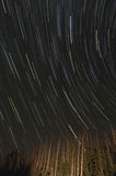 Star Trails In The Night Sky Stock Photo
